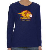 Logo - G540L-EC Gildan Ladies' 5.3oz. Long-Sleeve T-Shirt