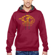 Flock-Logo - SF76R-EC Fruit of the Loom 7.2oz. Sofspun™ Hooded Sweatshirt